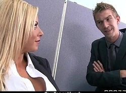 Big-boobed assignation manager copulates her revolutionary employee 24