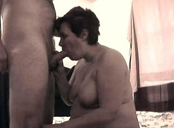 Glenda Sparx pracicing her deepthroat talents