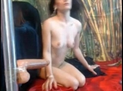 Brunette in the air Marital-device Oral sex together with Deepthroat -tinycam.org
