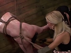 Blooper fucktoys tied slave