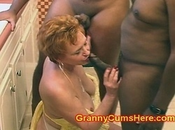 Granny Slut Screwed connected with will not hear of Larder at the end of one's tether Big black cock